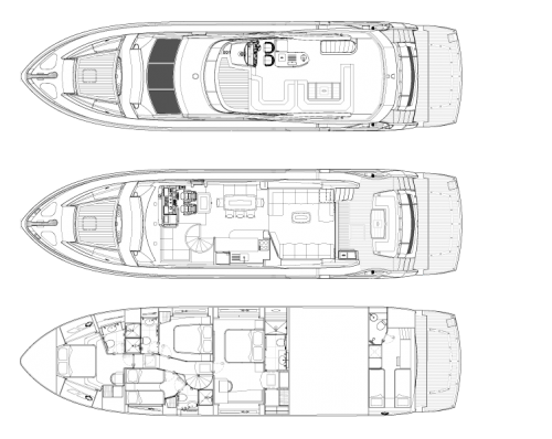 Sunseeker 75 Yacht купить яхту